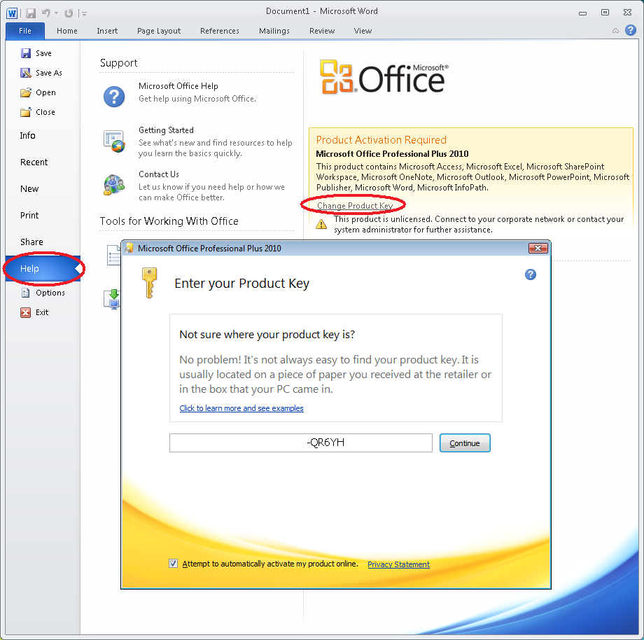Microsoft office 2010 product key Free Download