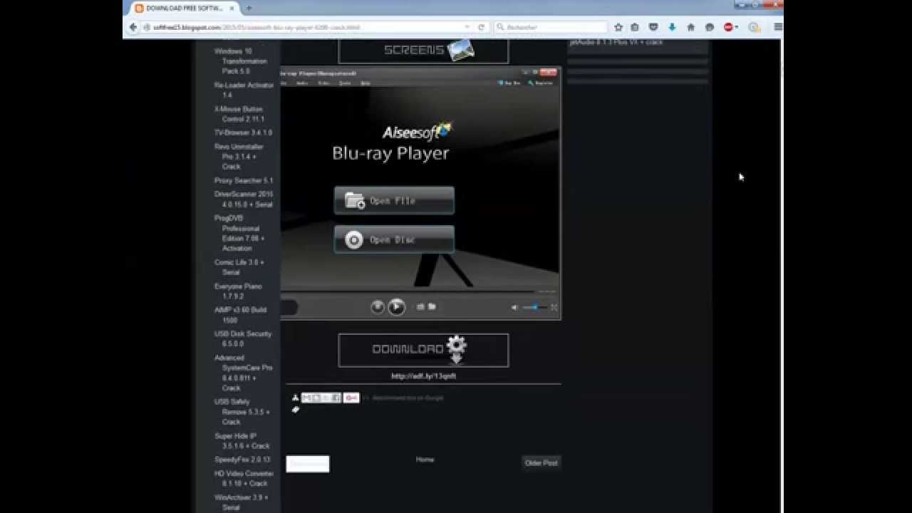 Aiseesoft Bluray Player 6.6.18 Patch Crack Full Version Free Download