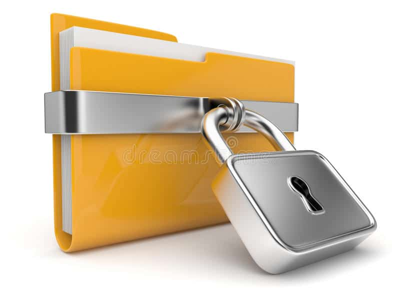 yellow folder lock data security concept 3d 20942747