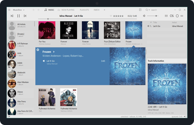 MusicBee Free download with Video Player
